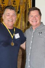 Kevin Denton (South Perth) 1984 Brice Trophy winner with John Sackson NRLWA